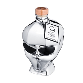 OUTER SPACE ALIEN HEAD CHROME EDIT. VODKA 40% (6 X 70 CL)
